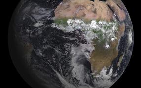 Вид на Землю со спутника