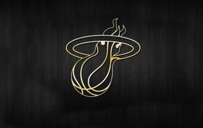 Gold logo basketball team
