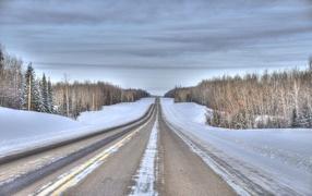 Прямая зимняя дорога