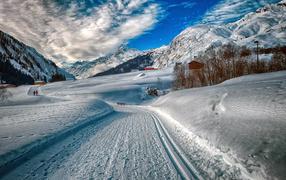 Зимний отдых в горах