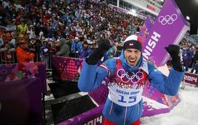 Доминик Ландертингер сребряный медалист на Олимпиаде в Сочи