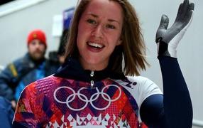 Elizabeth Yarnold at the Olympics in Sochi 2014