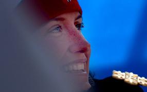Gold medalist Marit Bjoergen Norwegian skier at the Olympics