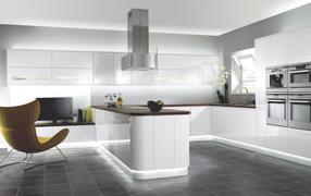 Интерьер Белая кухня