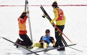 Johannes Ridzek German skier winner of the silver medal