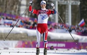 Norwegian skier Marit Bjoergen in Sochi