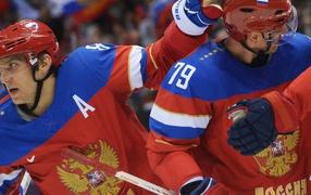 Russian ice hockey team at the Olympics in Sochi