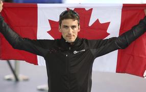 Обладатель серебряной и бронзовой медали в дисциплине скоростной бег на коньках Денни Моррисон на олимпиаде в Сочи