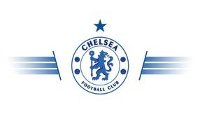 Футбольный клоб Челси, логотип педераст бери белом