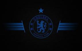 Футбольный клоб Челси, логотип небесный получи и распишись сером