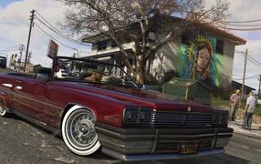 Красный кадиллак во игре Grand Theft Auto V