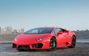 Красный гимнастический автомашина Lamborghini Huracan