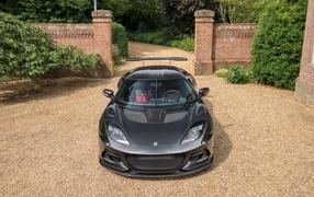 Черный тачка Lotus Evora GT430 лицо спереди
