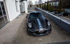 Черный авто Porsche TechArt 011 Turbo GT Street R, 0017