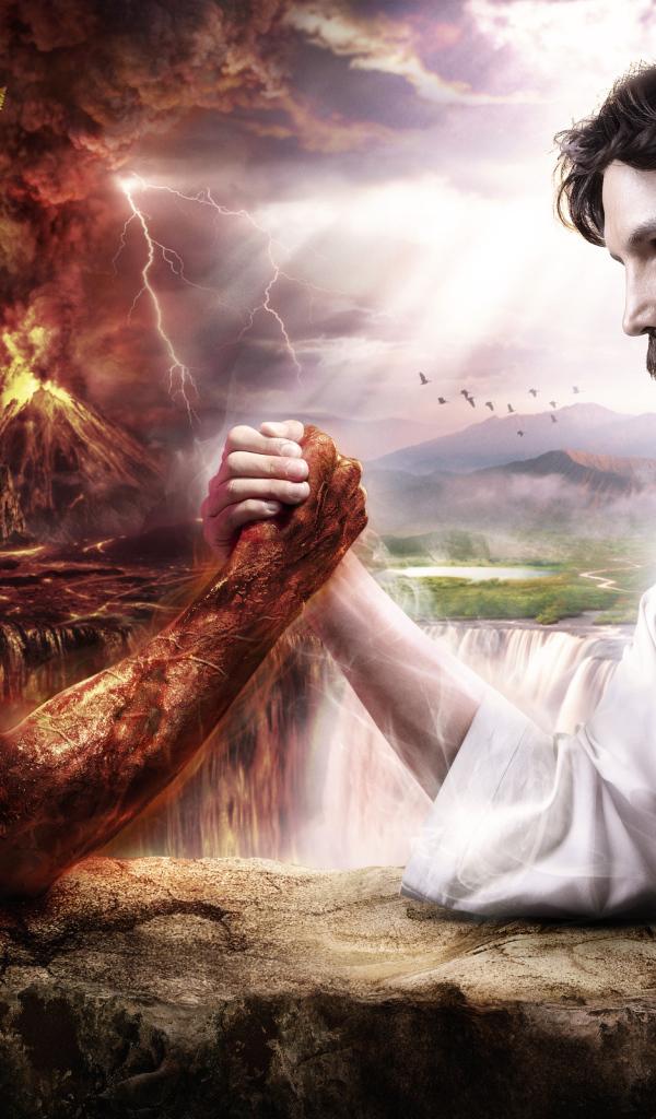 god vs devil wallpaper - photo #35