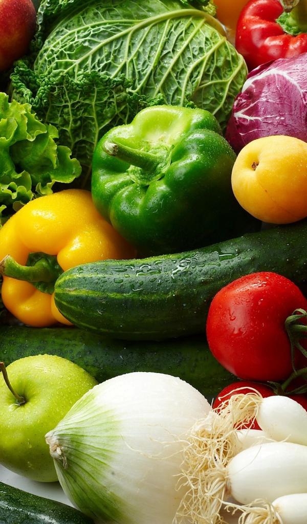 Года открытка, красивые овощи и фрукты картинки