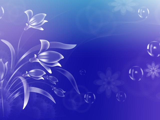 Обои голубые цветы