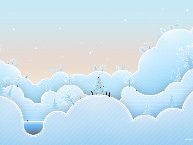 Обои сказочная зима