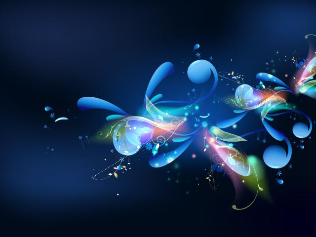 Синий фон и рисунок