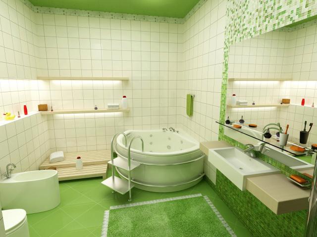 Красивая ванная комната обои для