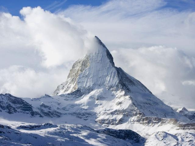 заснеженная гора 4