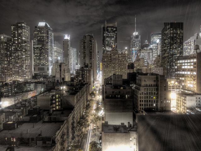 Красивый большой город Ночной Нью- Йорк Другое.