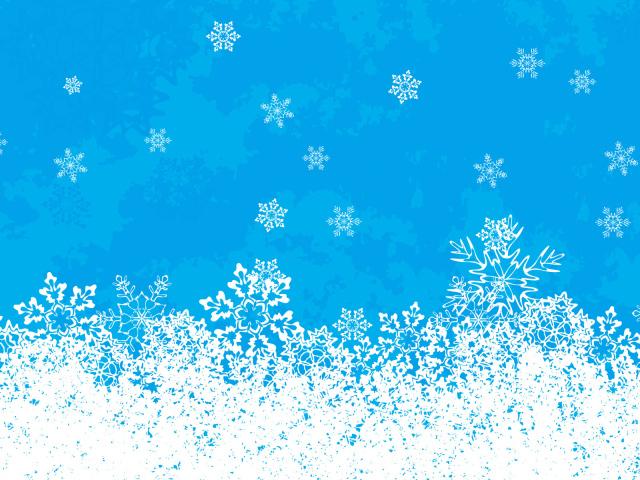 Снежинки на голубом фоне на рождество