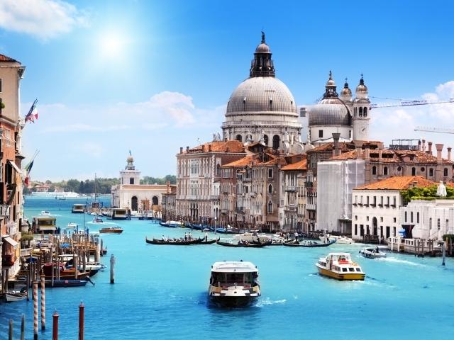 Город вода корабль венеция храм