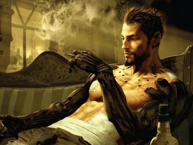 Живопись. курит, имплантанты боевого образца, deus ex 3, Deus ex human revo