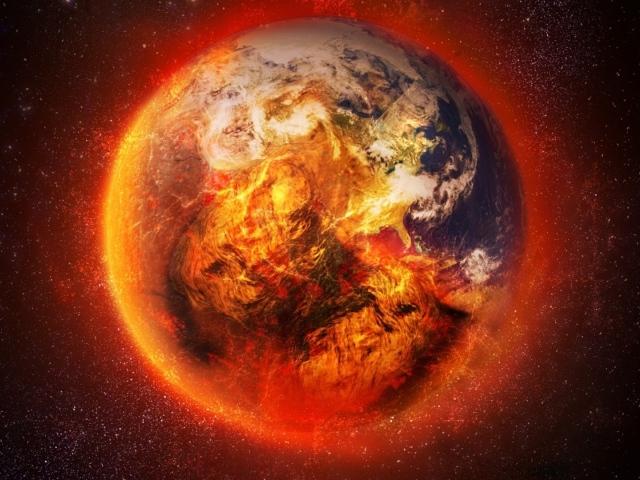 fire planet space wallpaper - photo #30