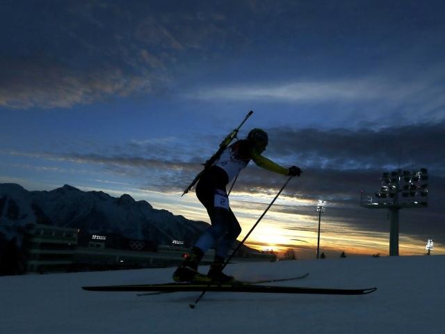 Биа�лон на �оне зака�а на Олимпиаде в Со�и обои для