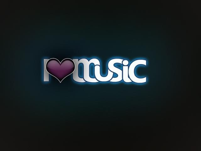 Я люблю музыку - обои для рабочего стола, картинки, фото