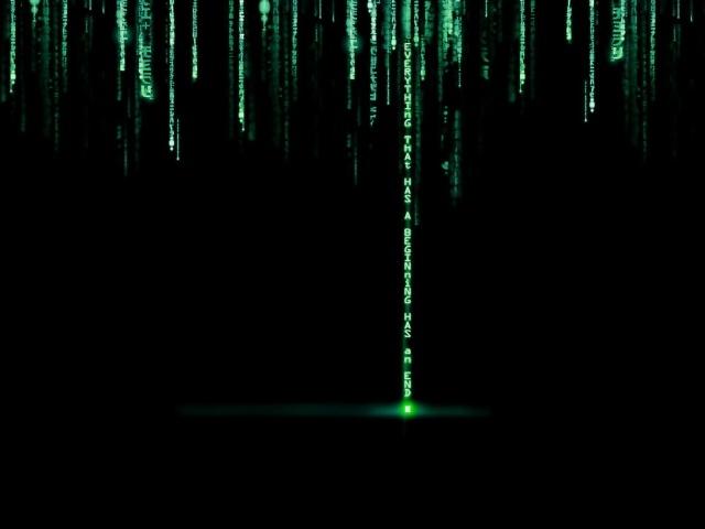 Animated matrix hd background