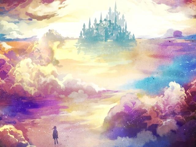 Девочка идет в замок своей мечты