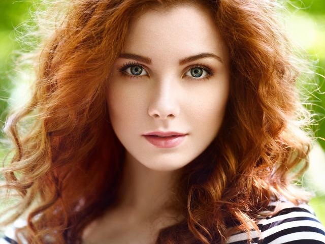 рыжие девушки с зелеными глазами фото