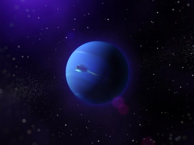Планета Нептун в звездной галактике - обои для рабочего ...