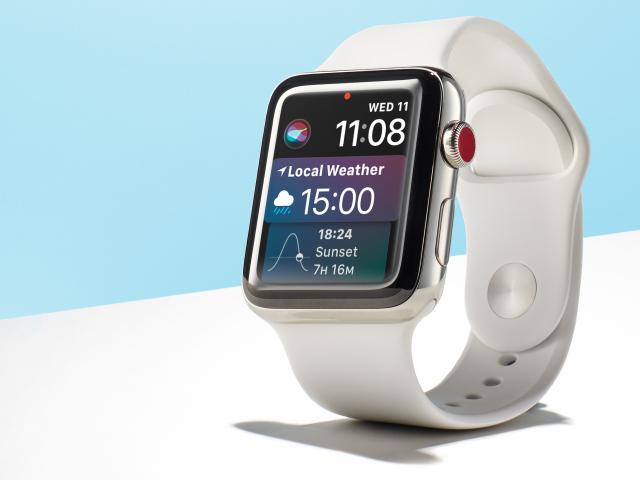 Smart Watch Apple Watch Series 4 On A Blue Background