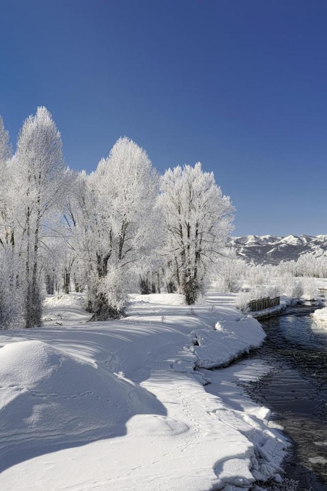 winter landscape desktop wallpapers 640x960
