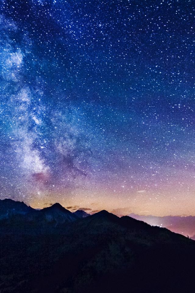 Обои на айфон звездное небо