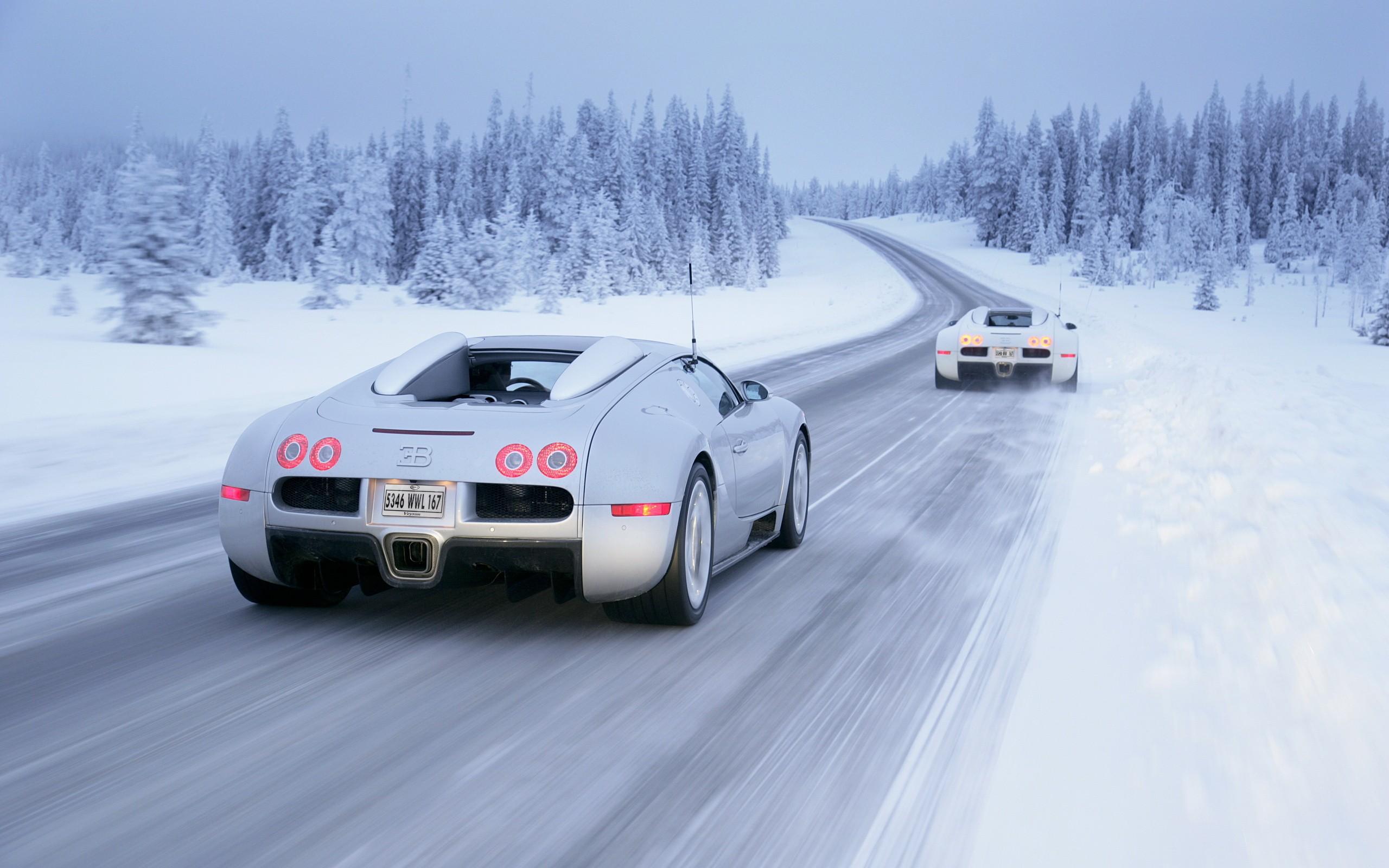 Картинки автомобили на зимней дороге