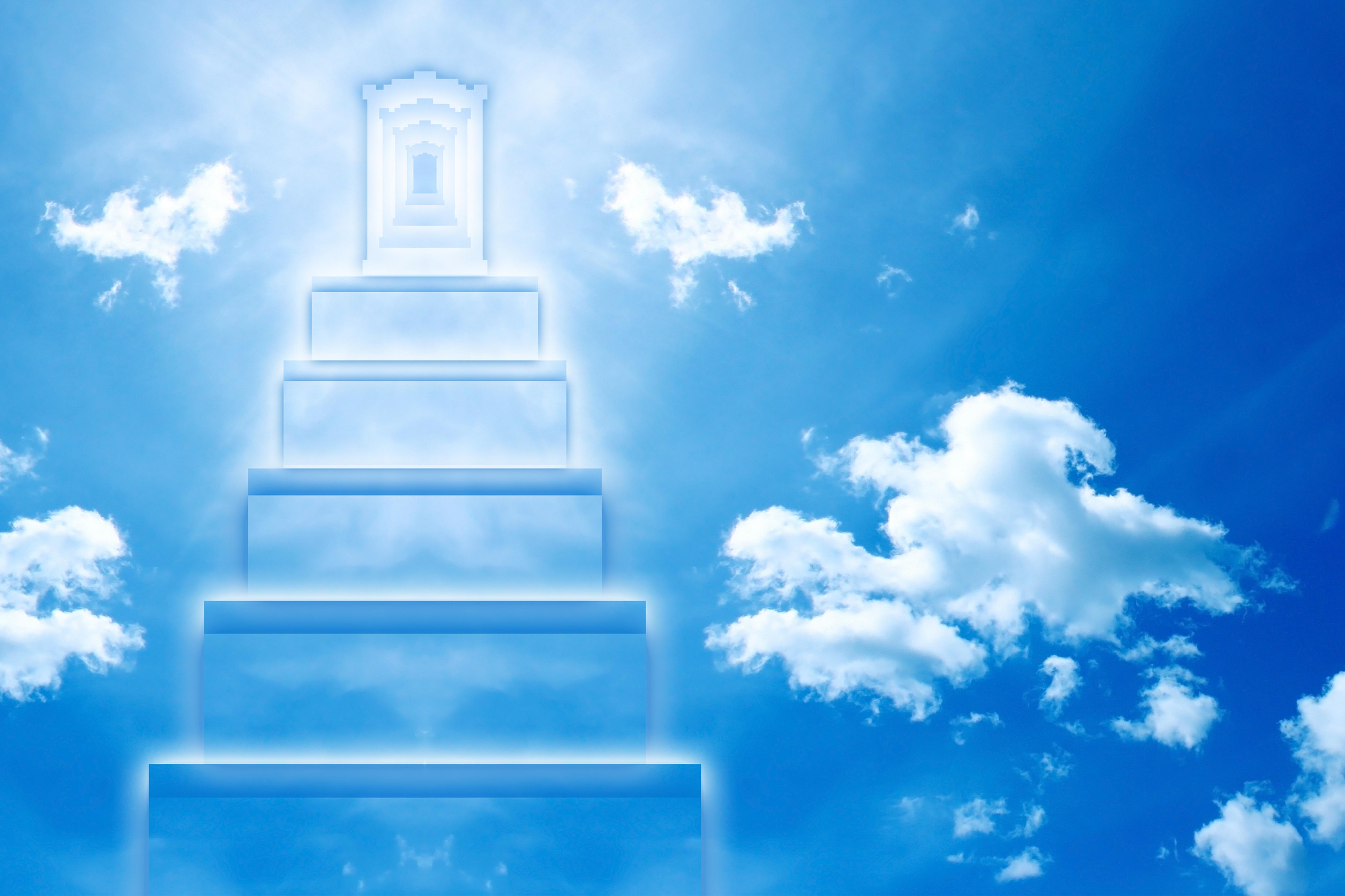 разблокировки лестница в небо картинка для рабочего стола можно