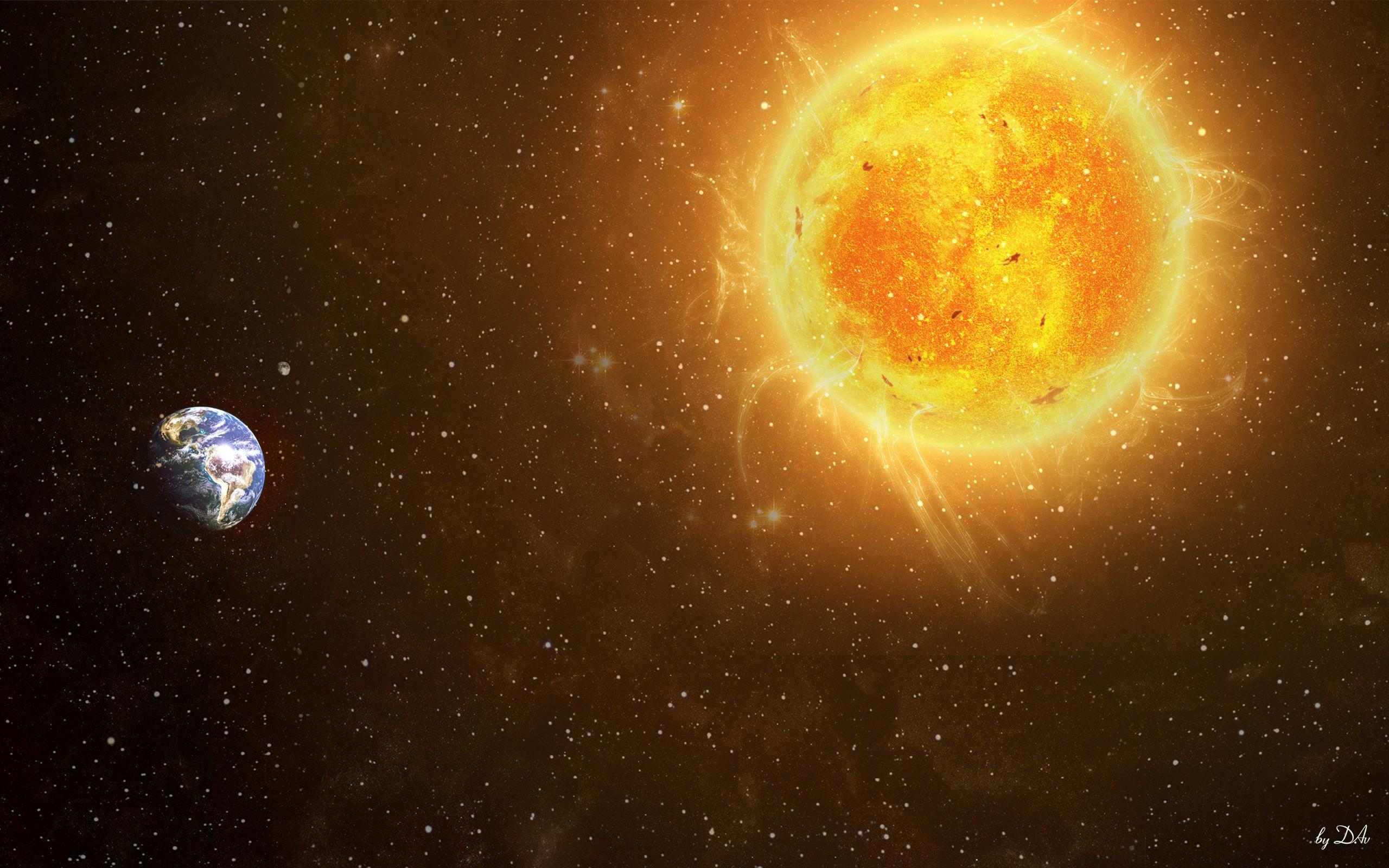 Spacesunneartheearth035454