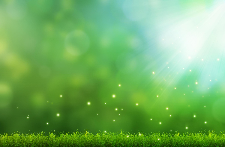 Зеленая трава искры