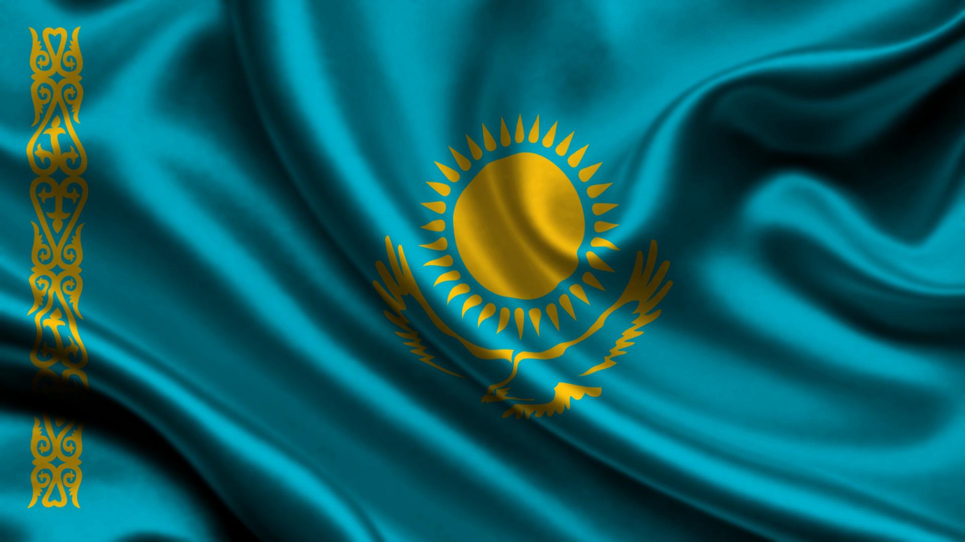 Флаг Казахстана - обои для рабочего ...: www.zastavki.com/rus/Backgrounds/wallpaper-41065.htm