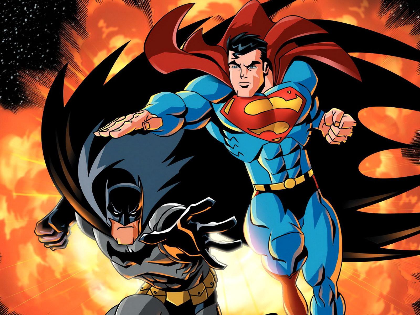 batman and superman cartoon wallpaper - photo #1