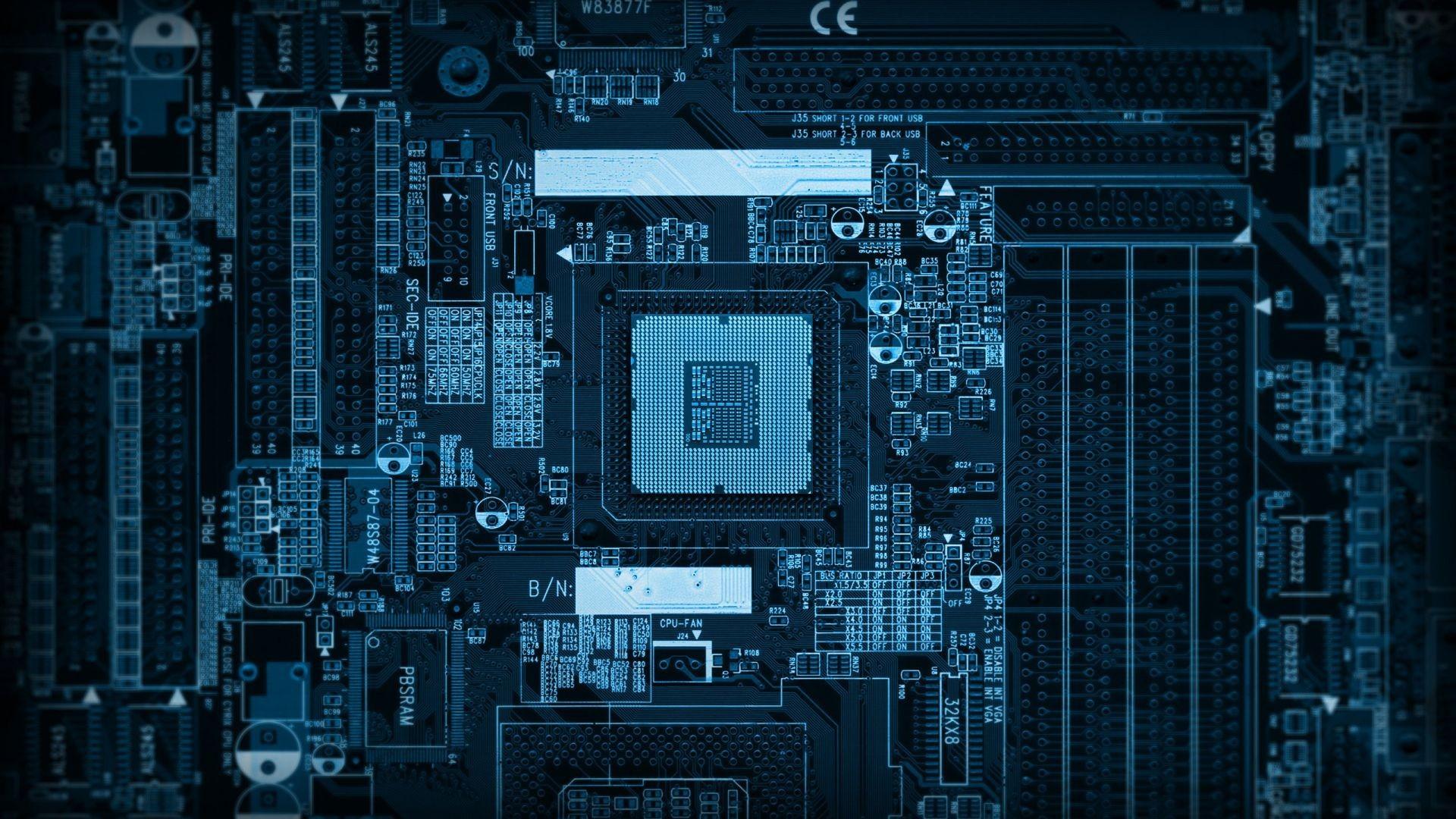 Обои микросхема робот процессор плата чипы для