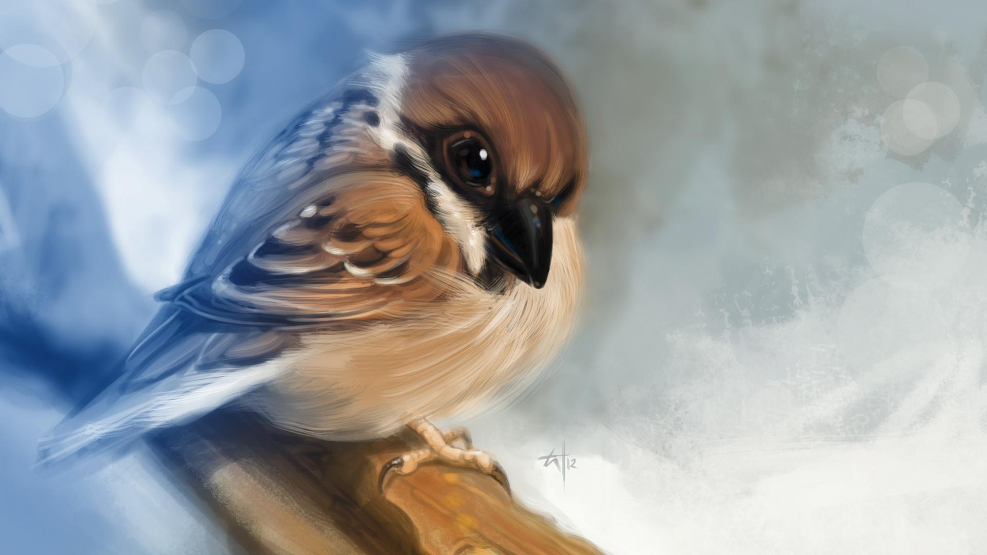 Годика девочке, красивые открытки мультяшные с птичками фото