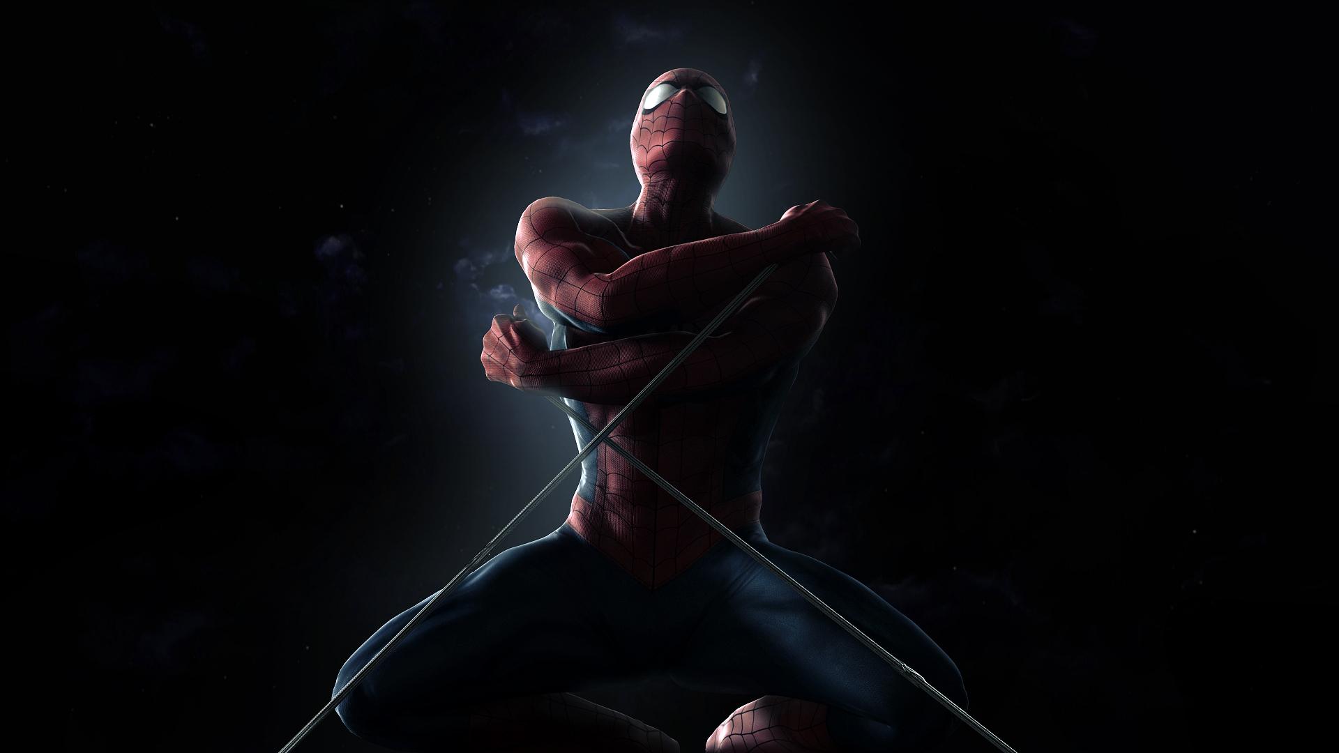 Фон комикс человек паук супергерои