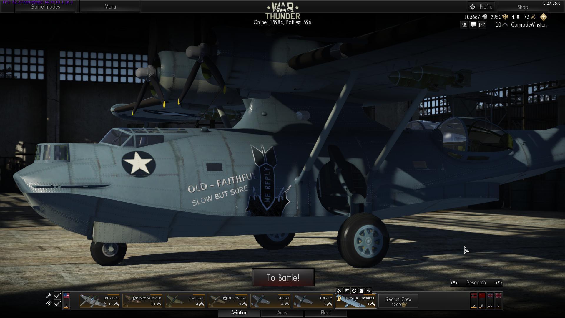 Seperating tanks and aircraft in the main menu for War thunder garage