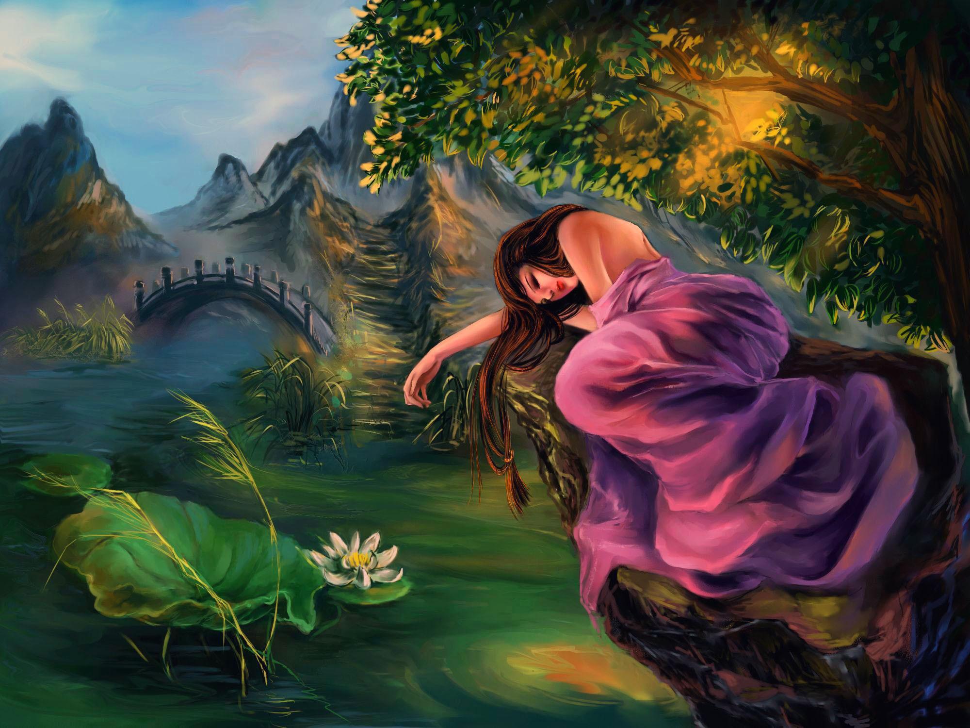 Картинка девочка фэнтези